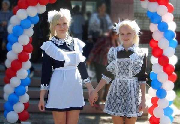 Красивые выпускницы в школьной форме (65 фото)